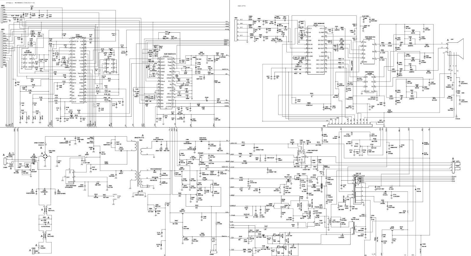 working of crt monitor with diagram star delta wiring control hp schematic