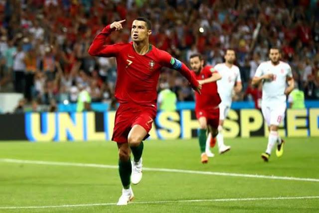"""الدون """" كريستيانو رونالدو يقود البرتغال لتعادل أمام أسبانيا"""