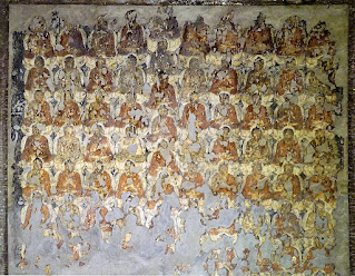 A part of Thousand Buddhas of Ajanta