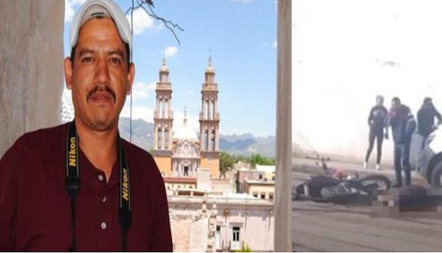Por andar fotografiando la escena donde Sicarios del CJNG ejecutaron personas en Zacatecas, lo siguieron y lo mataron