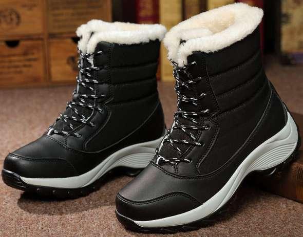 Women Winter Boots Waterproof Women Snow Shoes Warm Thick Fur Winter Boots