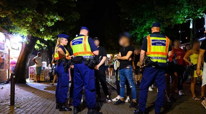 Újabb durva razzia Siófokon: rendet tettek a rendőrök a sétányon