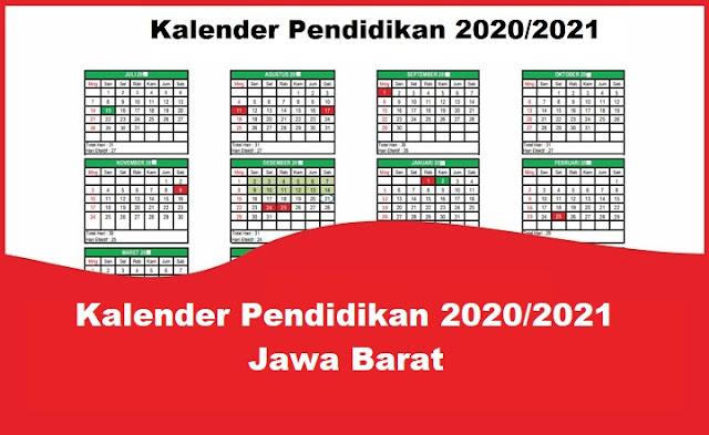 Kalender Pendidikan 2020/2021 Jawa Barat