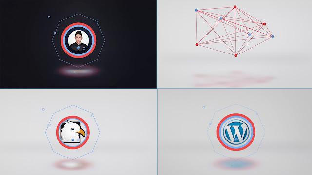 قالب لإنترو إحترافي Connected Shapes Logo Reveal جاهز للتحميل والتعديل مجانا برنامج | أفتر إفكت
