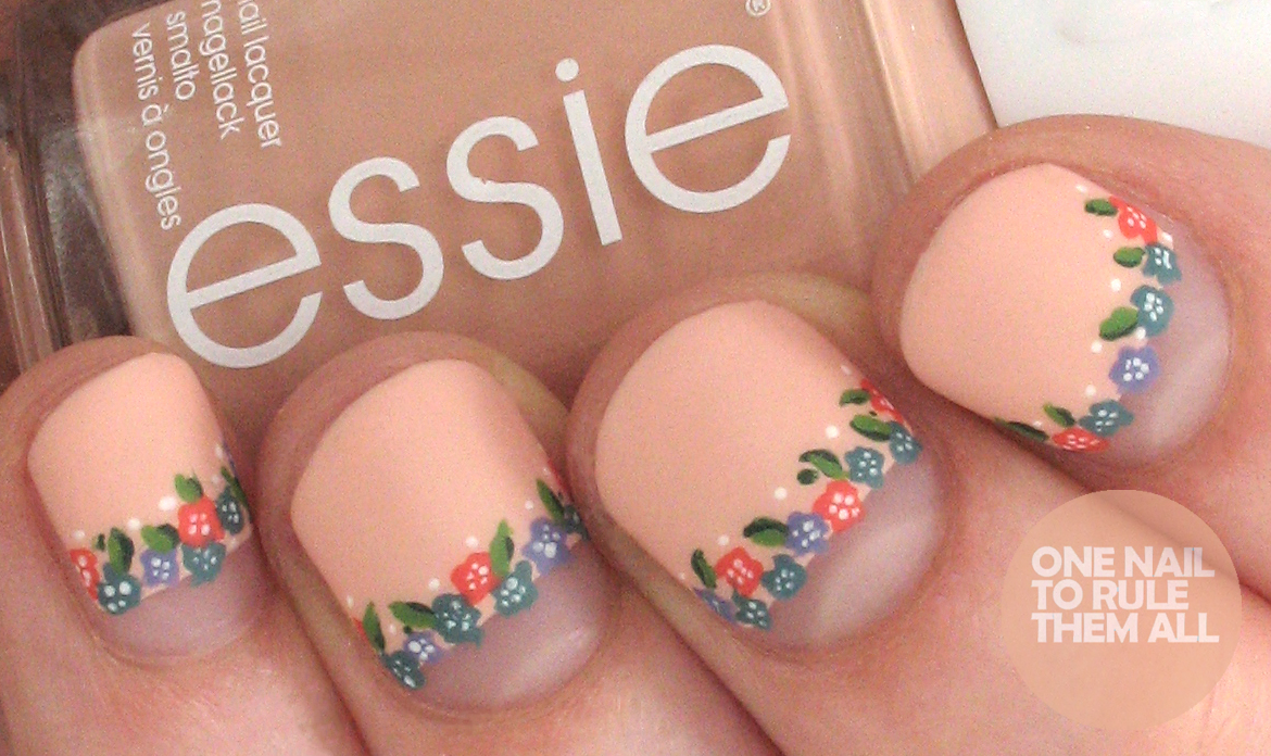One Nail To Rule Them All Essie Flower Crowns