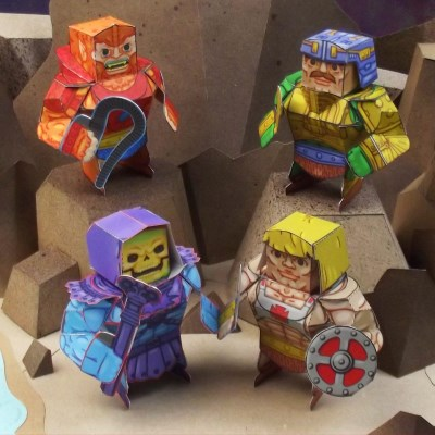 He-Man Paper Toys