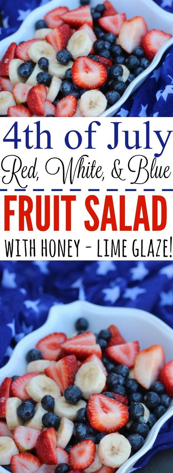 Red, White, and Blue Fruit Salad