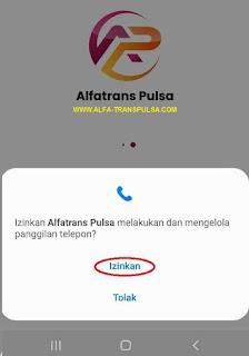 Izinkan Alfatrans Pulsa melakukan dan mengelola panggilan telepon?