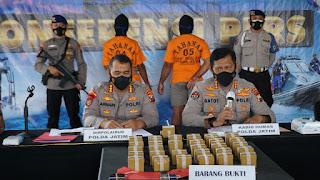 Ditpolairud Polda Jatim Ringkus Dua Tersangka Penjual dan Pembeli Bom Ikan