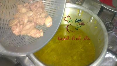 بالـــصــــور : طريقة عمل دجاج محمر بمذاق دجاج الأعراس