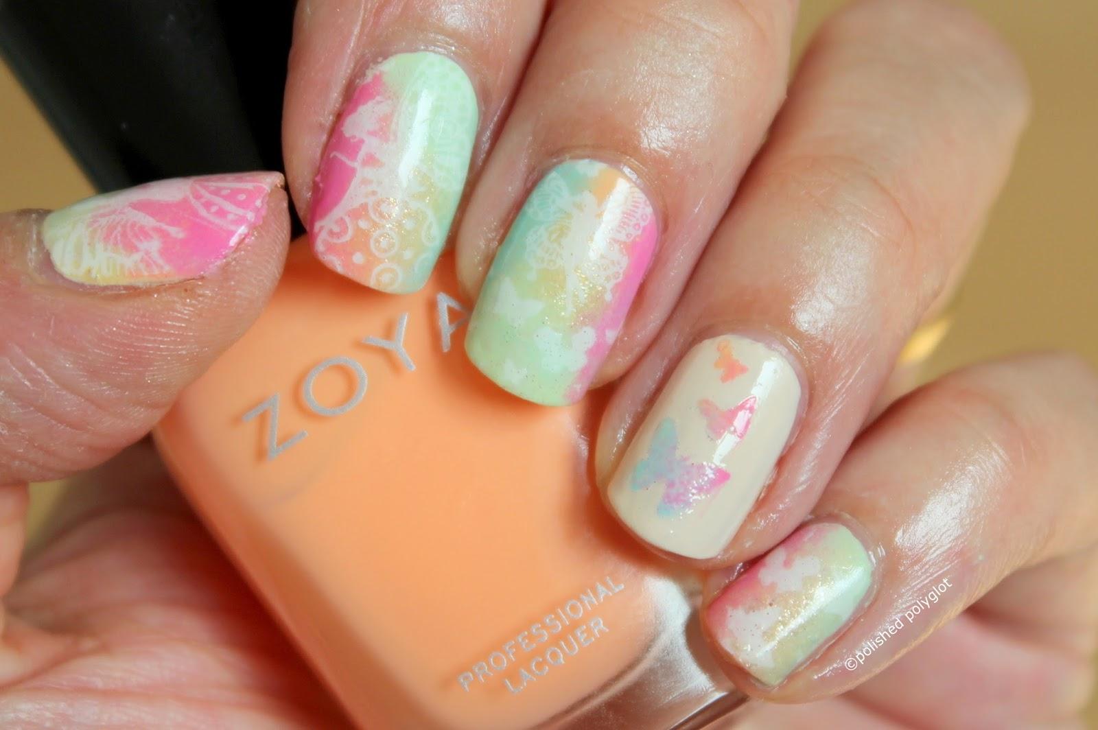 NOTD   Spring inspired manicure / Polished Polyglot