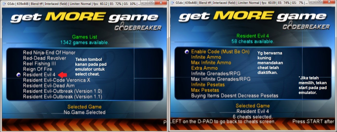 Tutorial mudah menggunakan codebreaker 10 pada emulator PCSX2 1.2