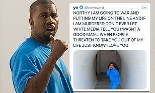 Kanye West tweets about being 'murdered' and North 'taken away' from him