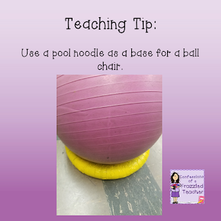 Teaching Tip - Use Pool Noodles for Exercise Balls