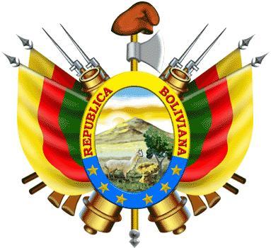 Dibujo del segundo escudo de Bolivia a colores