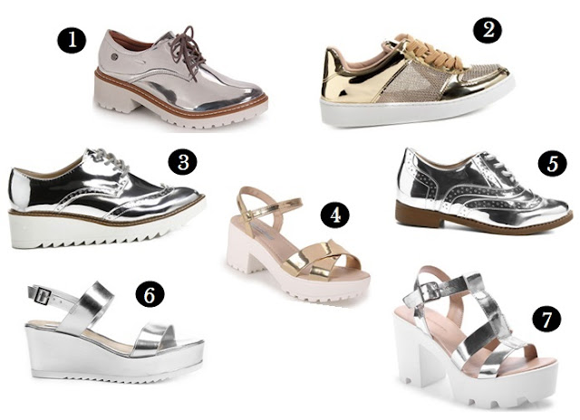 Onde comprar sapatos metalizados