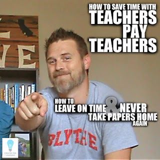 The 16th installment in our series: How to Leave on Time and NEVER Take Papers Home Again ... Today, we share how Teachers Pay Teachers can save you tons of planning time.
