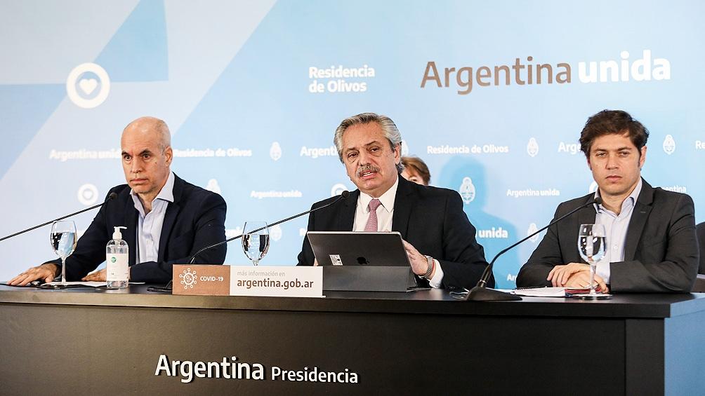 El Presidente recibe a Kicillof y a Rodríguez Larreta para analizar la evolución del aislamiento