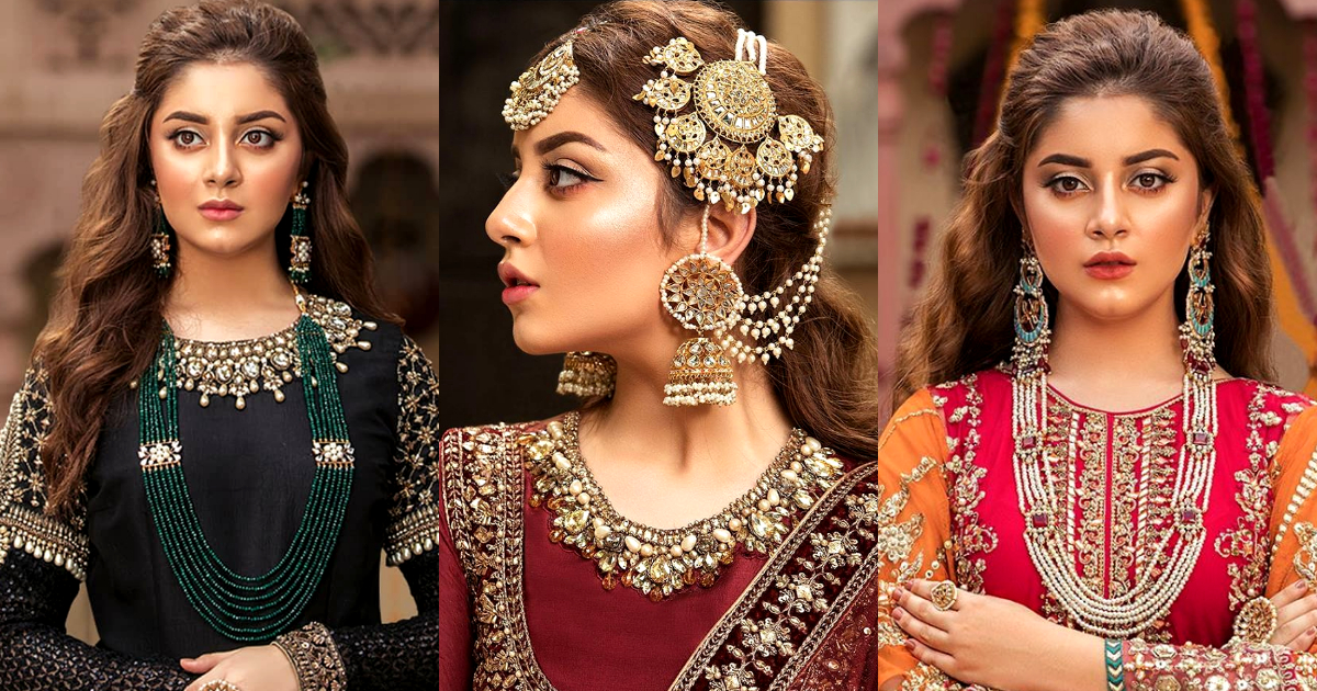 Actress Alizeh Shah Stunning Shoot for Maria B Jewelry
