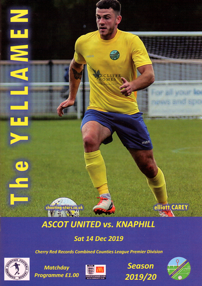 Ascot United FC 2019/20 season programme