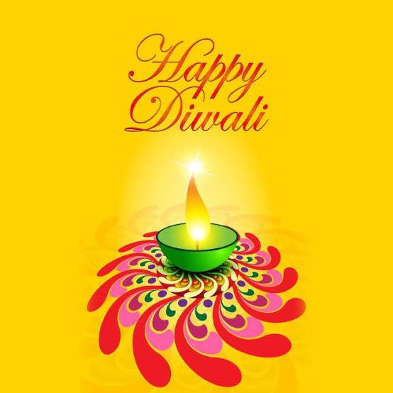 greeting card for diwali