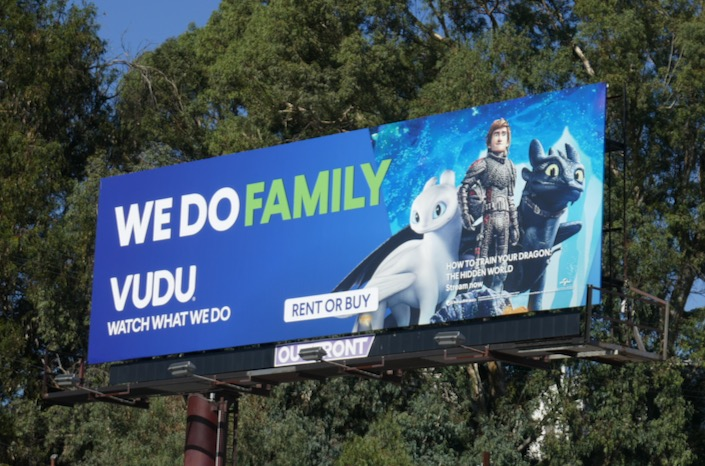 We do family Vudu How to Train Your Dragon 3 billboard