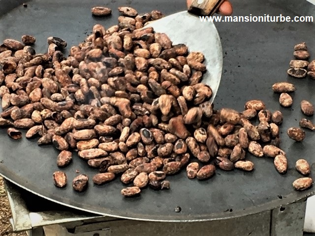 Toasting Cacao to make Chocolate