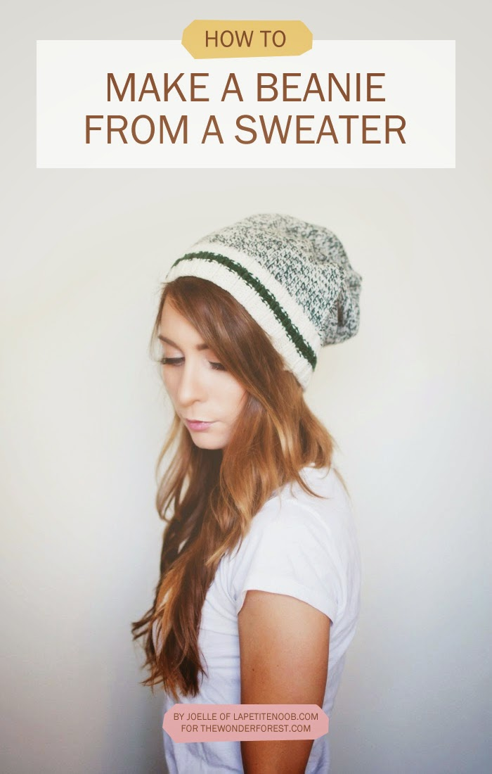 DIY Slouchy Beanie from an Old Sweater Tutorial - No Sewing  fa0af222176