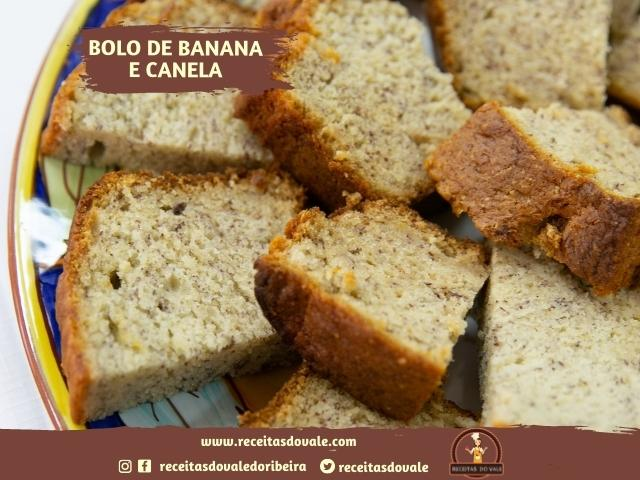 Receita de Bolo de Banana e Canela