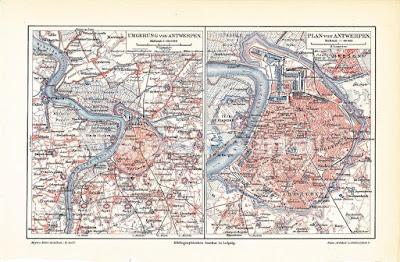 Vecchia mappa Anversa