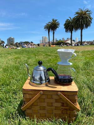pop-up tasting of Triple Coffee on San Francisco's Marina Green