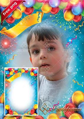 Marcos de cumpleaños gratis para fotos infantiles
