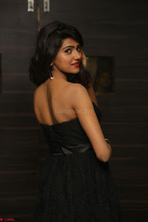 Shalu Chourasiya in spicy Sleeveless Strapless Black Top at O Pilla Nee Valla Movie Audio Launch Feb 2017 045.JPG