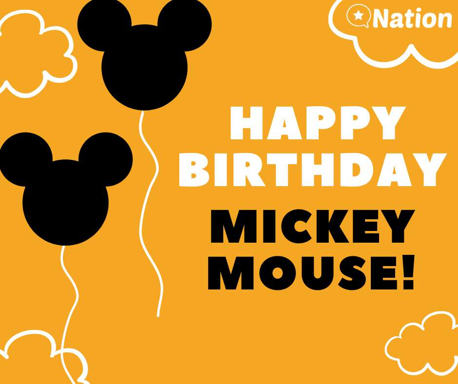 Mickey Mouse's Birthday Wishes Sweet Images