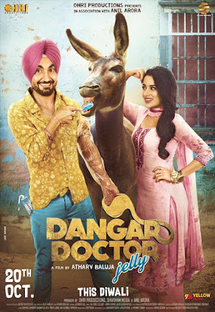 Poster Of Pollywood Movie Dangar Doctor Jelly 2017 300MB HDRip 480P Full Punjabi Movie