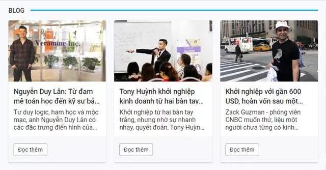 Thiết kế các bài đăng trên Blog hiển thị tại nhóm trang chỉ mục