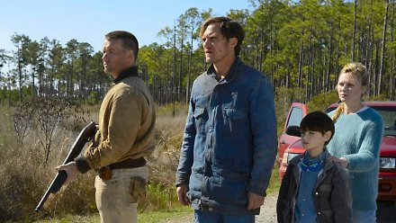 "Joel Edgerton, Michael Shannon, Jaeden Lieberher & Kirsten Dunst in ""Midnight Special"""
