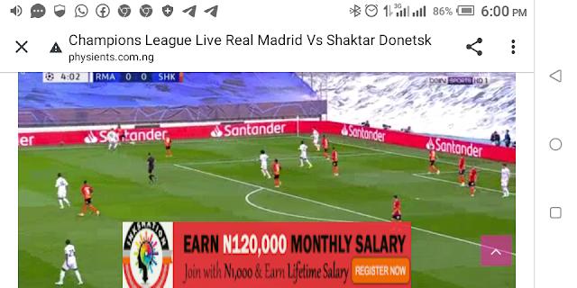 ⚽⚽⚽⚽ Champions League Real Madrid Vs Shaktar Donetsk ⚽⚽⚽⚽