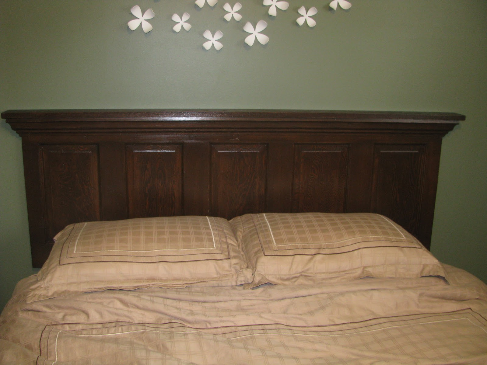 Old Door Headboard Tutorial
