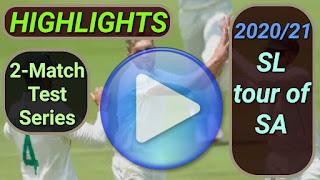 South Africa vs Sri Lanka Test Series 2020-2021