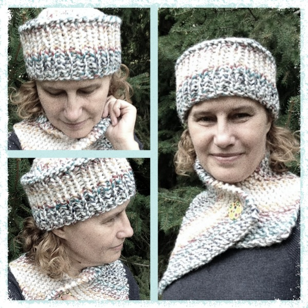 Hand Made Rukodelky Trendy Knits Hat And Asymmetrical Scarf