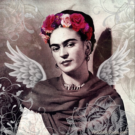 Frida Kahlo Angel - Art Chick Studio