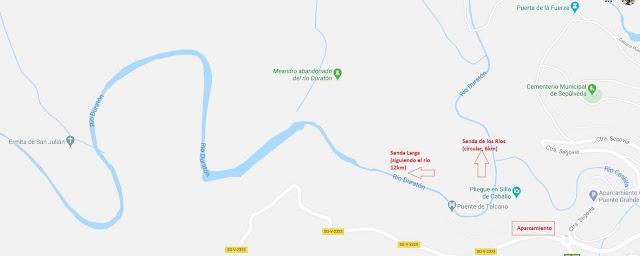 senderismo en Sepúlveda y río Duratón