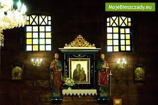 wnetrze cerkwi w Czarnej