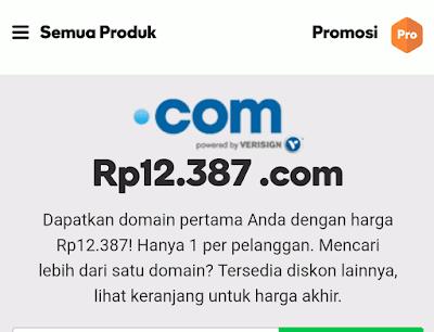 Promo Domain dot com Cuma 12 ribuan