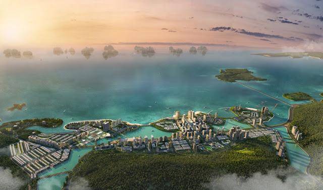 Phối cảnh dự án khu đô thị du lịch Hạ Long Marina.