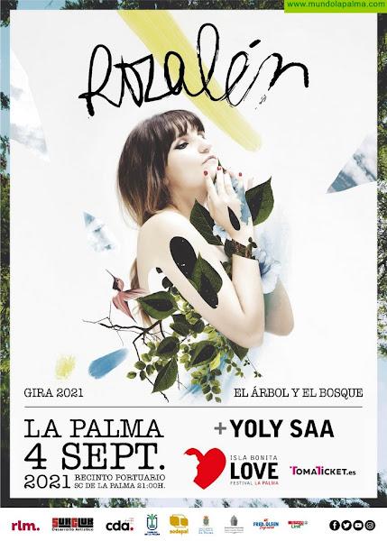 El Isla Bonita Love Festival se traslada a septiembre, con el concierto de Rozalén y Yoly Saa el sábado día 4 en la capital