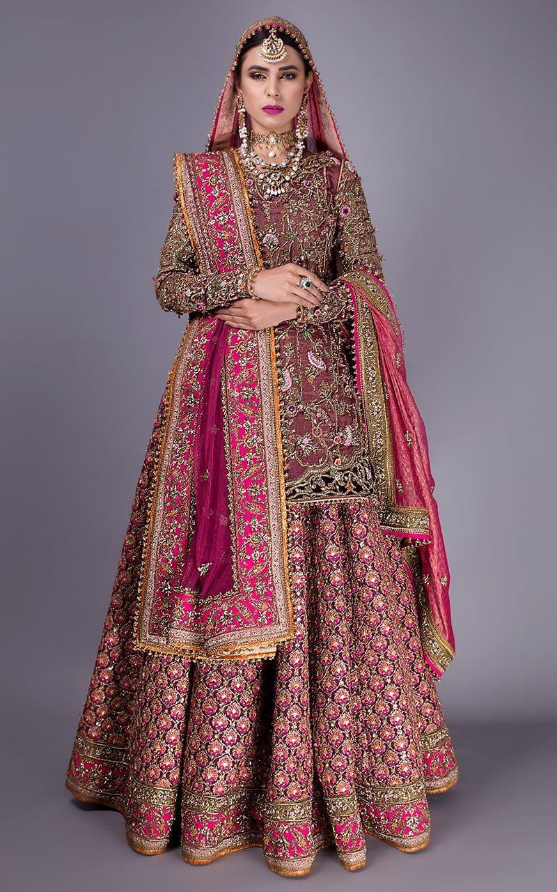 Fahad Hussayn Bridal KundanZari Shirt, Silk lehanga and Net Dupatta