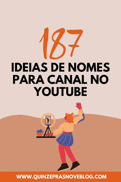 Ideias de nomes para canal no YouTube