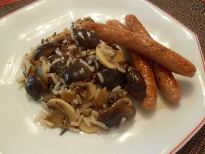 Arroz salvaje y mezcla con setas shiitake y champiñones